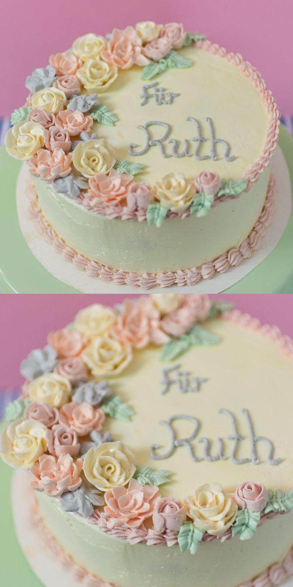 Frauenzuckerfee Buttercremekuchen Mit Blumen Buttercremeblumen