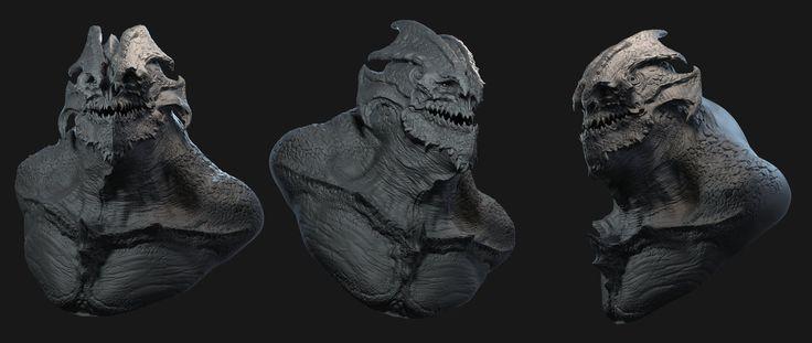 Quick Creature Design 01 , kevin demuynck on ArtStation at https://www.artstation.com/artwork/quick-creature-design-01