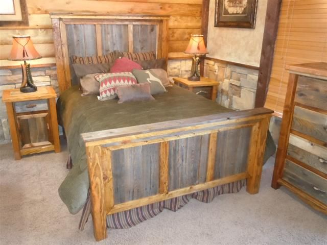 Superb Customizable Barnwood Bedroom Furniture  Timbercreek Collection