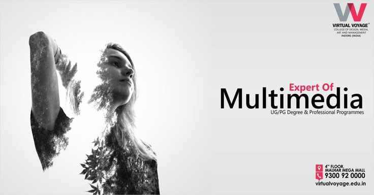 Make Career In Multimedia.  Learn multimedia from best college of Central India.  Call- 9009 681 101 or Visit -  Virtual Voyage - 4th Floor, Malhar Mega Mall, A.B. Road, Indore.