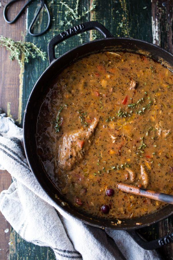 Thanksgiving Turkey Gumbo | halfbakedharvest.com @hbharvest