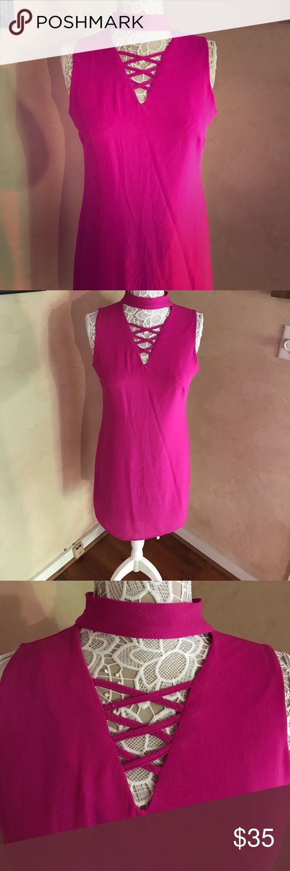 Women's size medium boutique dress Women's size medium worn once zip up bright purple dress. Zips up the back. Like. Tans new condition julianas boutique Dresses Midi