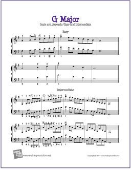 G Major Scale and Arpeggio | Free Sheet Music for Piano