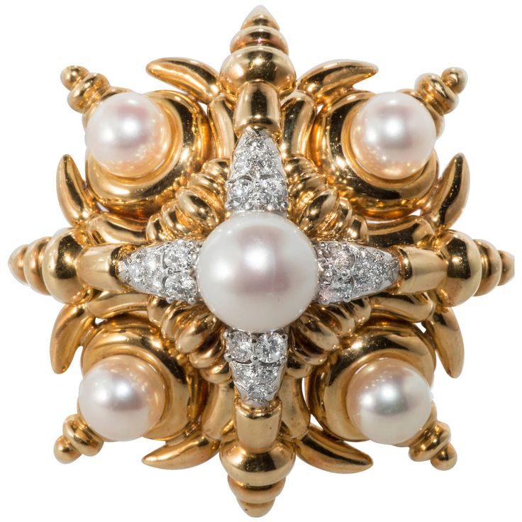 images gold cipullo best jewellery brooch lofty platinum vintage cartier diamond pearl pinterest aldo on brooches