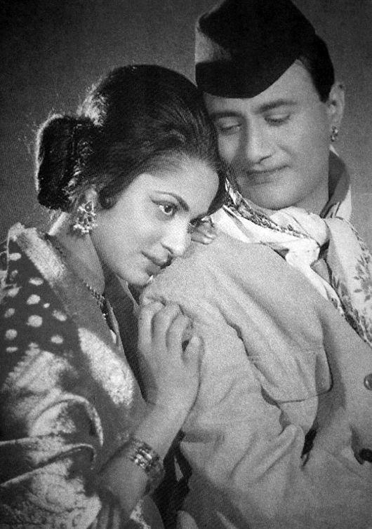 Waheeda Rehman and Dev Anand.