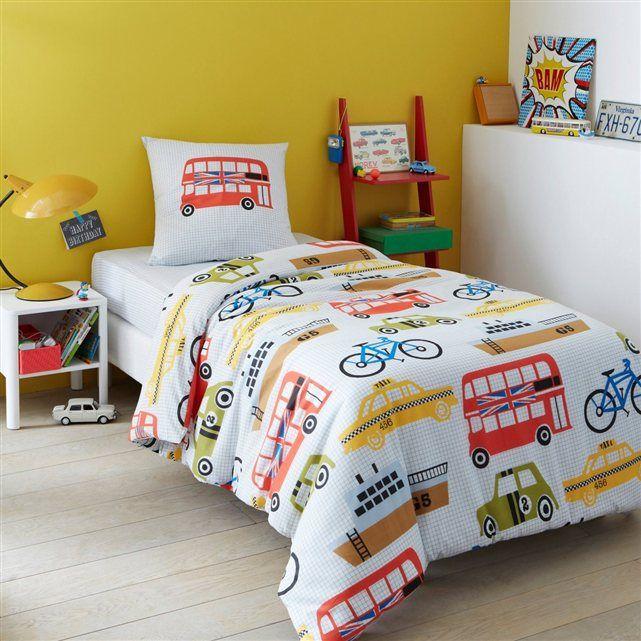 parure housse de couette taie pour enfant taxi la. Black Bedroom Furniture Sets. Home Design Ideas
