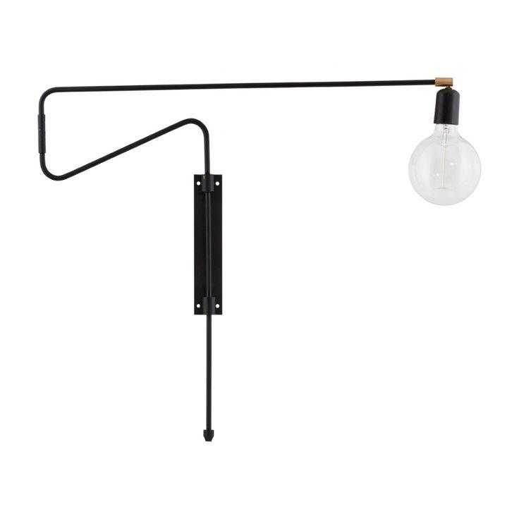 Vägglampa Swing - svart/järn stor - Köp möbler och inredning på Reforma Sthlm