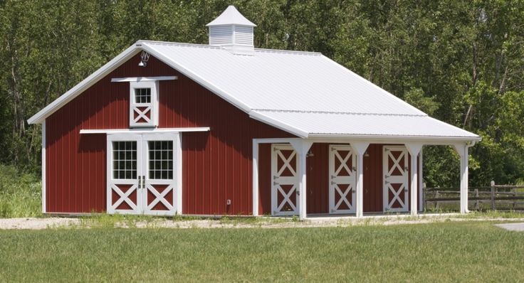 Small Red Morton Horse Barn Was Built For Iris Of Elma Ny