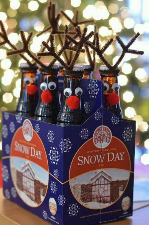 Reindeer Beer... totally doing this for someone for Christmas :)