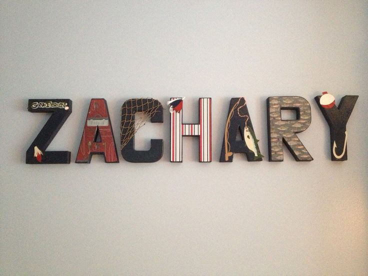 Fishing Theme Nursery Letters  price is PER letter by GMHomeDecor, $9.00