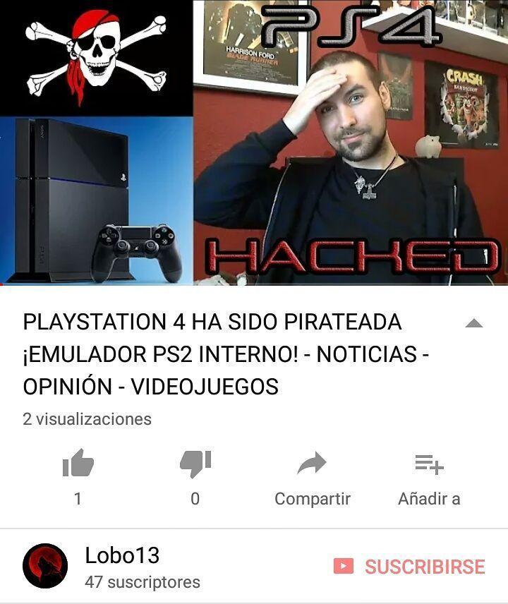 PlayStation 4 Ha sido pirateada!  Emulador de PlayStation 2 interno! Link de mi canal de YouTube en bio  Suscríbete dale a like y comparte!  #playstation #playstation4 #hack #hacked #ps4 #playstation2 #ps2 #emulator #emulador #noticias #actualidad #youtube #youtuber