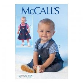 McCall's David Tutera Sewing Pattern | M7038 | Infants' Tops, Jumper and Overalls | All Sizes In One Envelope