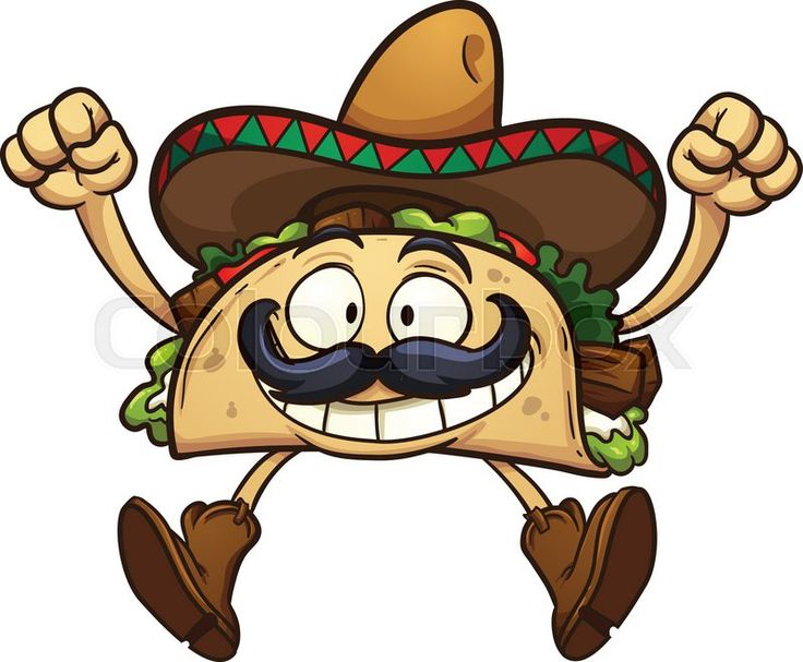 Vector cartoon of Mexican man with taco. Description from shutterstock.com. I searched for this on bing.com/images