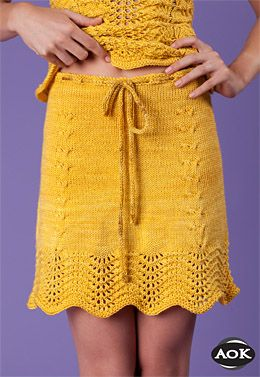 Army of Knitters Sunflowers Skirt PDF Download