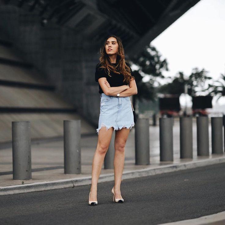 Isabella Hung | Sydney Blogger @digyhu | Nobody Denim distressed skirt