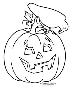 dulemba coloring page tuesday pumpkin and crow