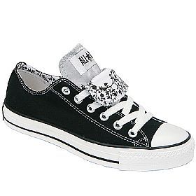 Converse double tongue shoes