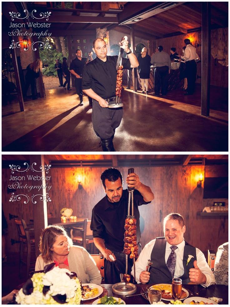 """Brazilian steak skewers""""The Cooper Estate"" Homestead Florida, Rustic Wedding Venue, Rustic Wedding Venue Florida, Barn Wedding, pocket watch groomsmen gifts, South Florida Wedding Venue, Premiere Miami wedding,"