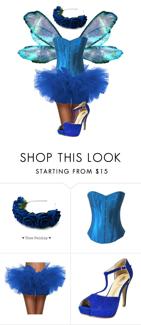 """Blue Fairy Halloween Costume"" by chicastic ❤ liked on Polyvore"