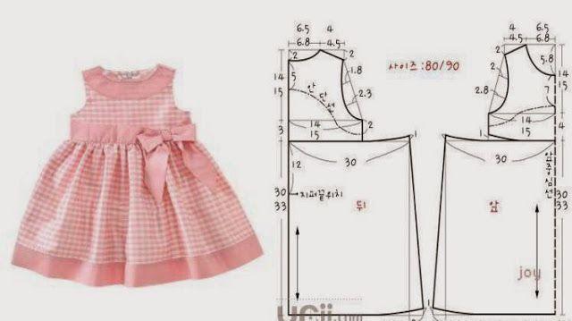 Molde vestido para menina