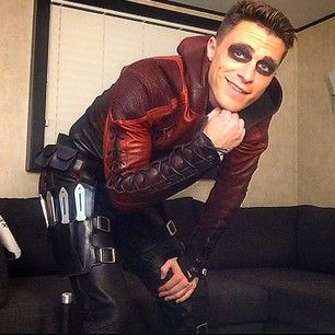 When he took this adorable behind the scenes photo from the set of Arrow. | 24 Times Colton Haynes Killed It On Instagram