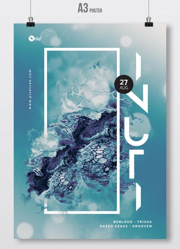 Inuti Abstract Party Flyer Event Poster Design Graphic Design Posters Party Flyer