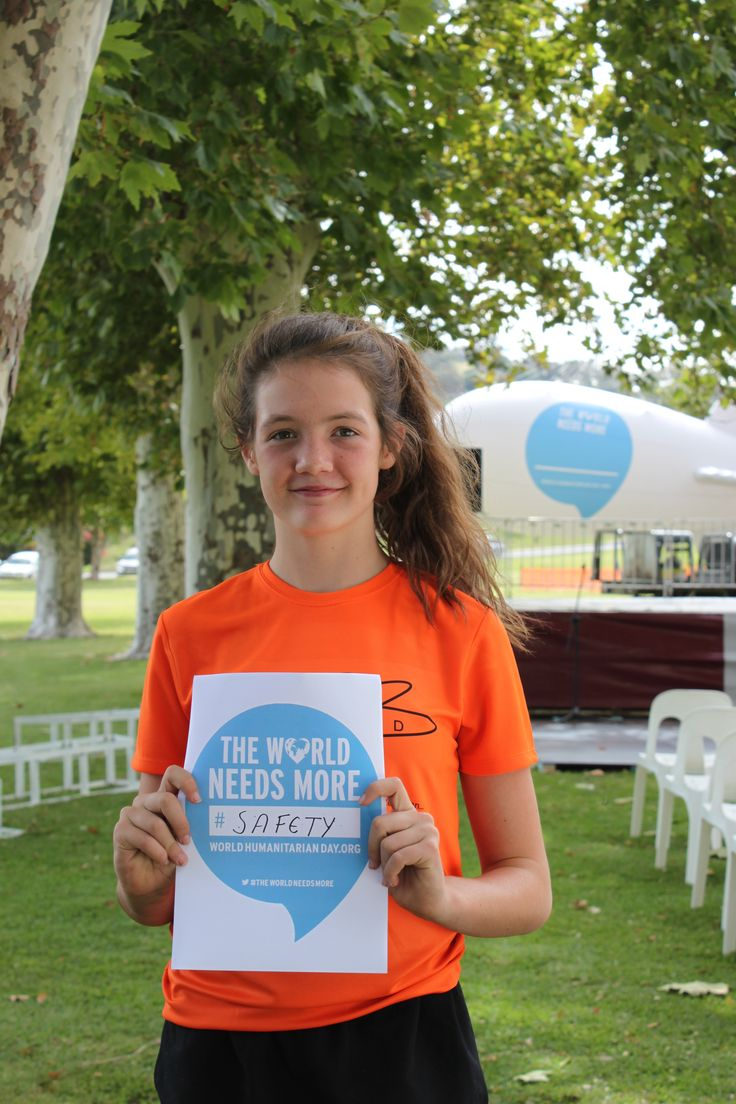Children were asked about what the World Needs more of, part of UN OCHA global campaign, Cowra, NSW.