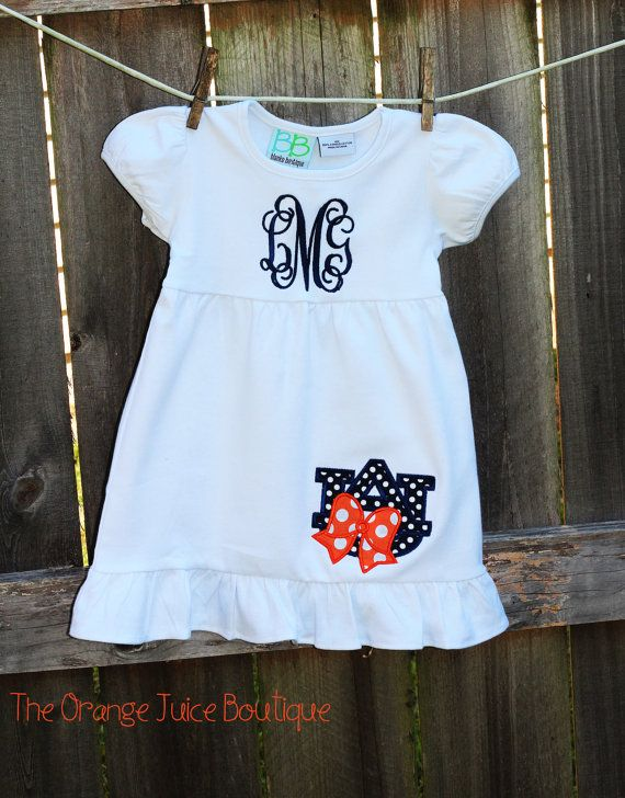 Auburn Tigers Monogrammed Football Dress by OrangeJuiceBoutique, $32.00