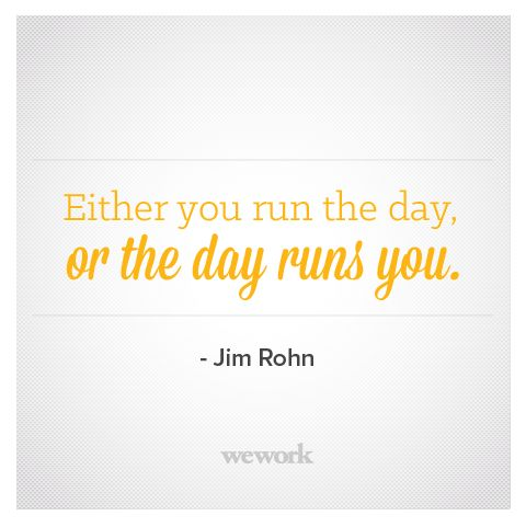 WeWork Inspirational Quote / Jim Rohn