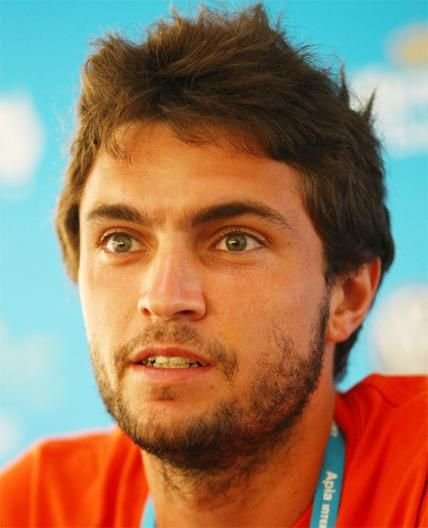 The Hottest Male Tennis Players - Gilles Simon - from InStyle.com