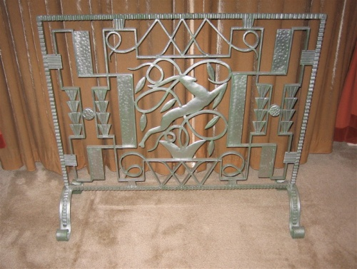Art Deco Iron Fireplace Screen Leaping Gazelle Art Deco Metal Ideas For The House