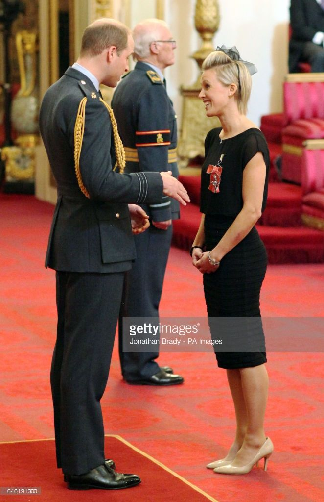 Alex Danson from Marlow, a member of Britain's Olympic gold medal-winning women's hockey team, is made an MBE (Member of the Order of the British Empire) by the Duke of Cambridge at Buckingham Palace.