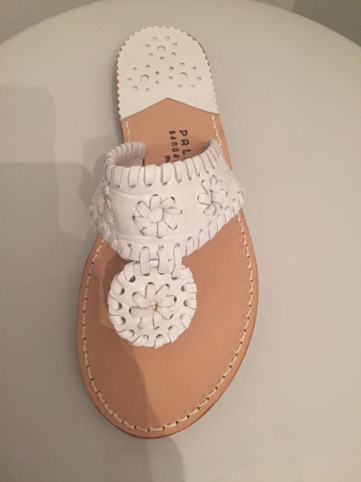 Palm Beach Sandals | White Croc