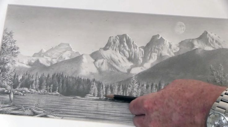 How to Draw Mountains - Graphite Drawing Tutorial
