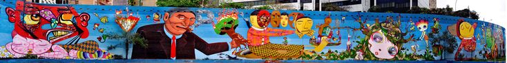 23 DE MAIO AVENUE MURAL, COLLABORATION OSGEMEOS, NUNCA, NINA PANDOLFO, FINOK AND ZEFIX | OSGEMEOS Official Website - projects and news