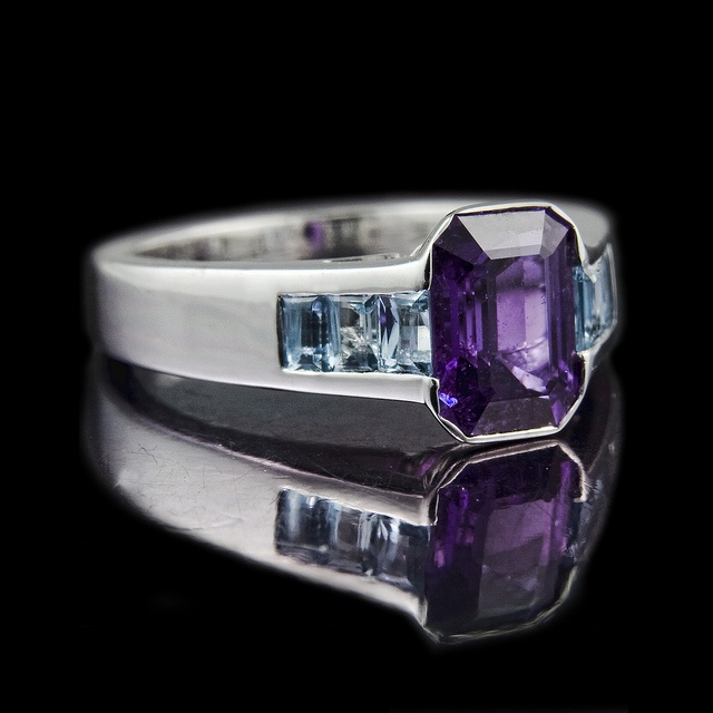 SOMEBODY BETTER F***ING MARRY ME AND GET ME THIS F***ING RING!!! Purple sapphire and aquamarine engagement ring: 1.96ct Emerald cut purple sapphire in a rub-over setting and six 3 x 2mm channel set baguette aquamarine shoulders. Set in 18ct white gold. By rmrayner, via Flickr.: Favorite Engagement, Sapphire Engagement Rings, Aquamarine Engagement Rings, Aquamarines Engagement Rings, Awesome Engagement, Purple Sapphire, Cut Purple, Emeralds Cut, Aquamarines Shoulder