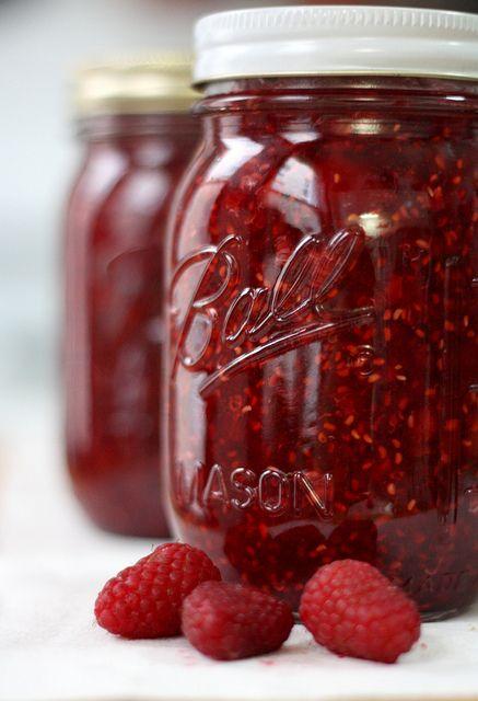 Quick and Easy Raspberry Freezer Jam.