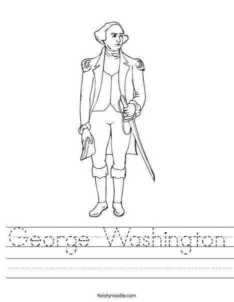 Presidents Song   George Washington Standing Worksheet