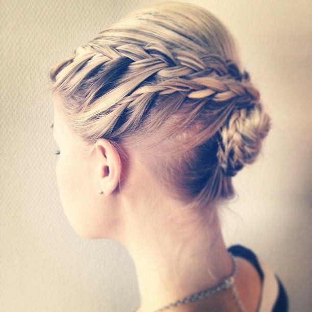 #braid #plait #doublebraid #chignon #blond #blonde #backcomb #beehive #updo