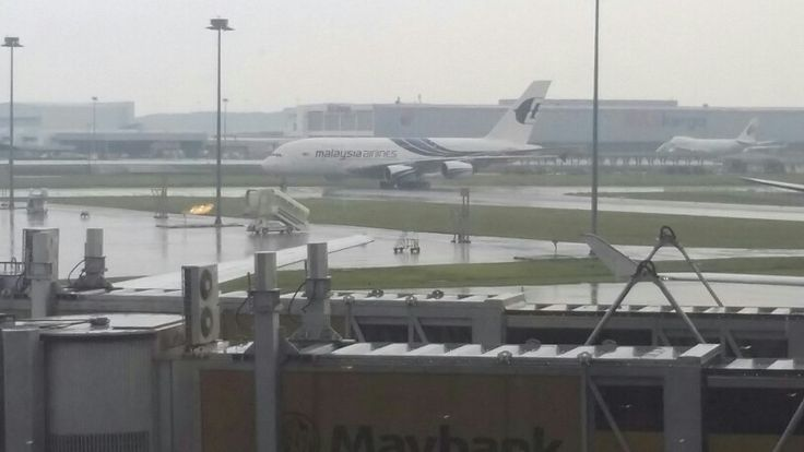 Malaysian Airlines A380 at KLIA