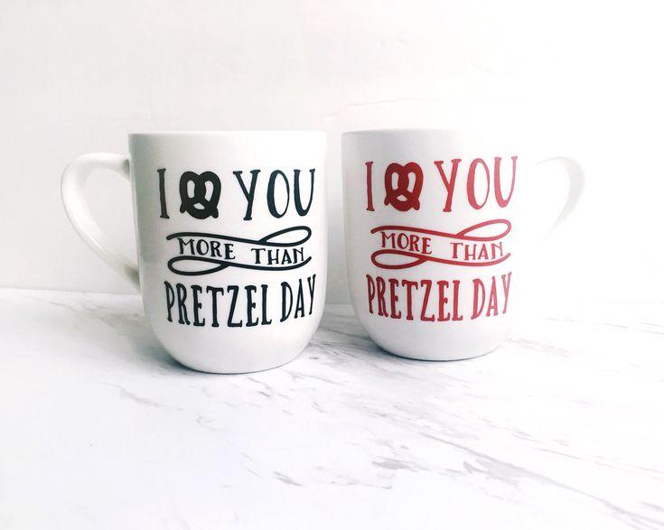 The Office Pretzel Day Mug - I Love You More Than Pretzel Day - Funny Coffee Mug - Valentine's Day Mug - Gift For Him - Gift For Her