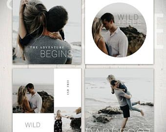Instagram Template Pack: Wildflower - 8 Square Social Media Templates
