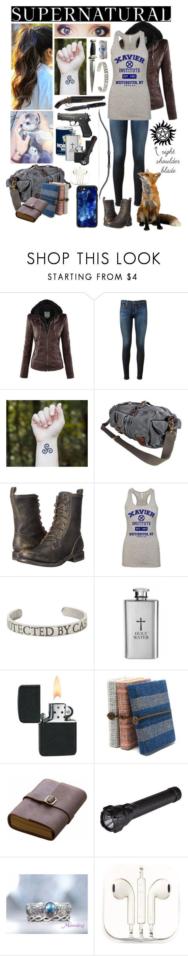 """""""Supernatural OC - just another job"""" by seachild41539 ❤ liked on Polyvore featuring AG Adriano Goldschmied, VIPARO, Frye, CO, Handle, Hot Topic, Rear View Prints, 5.11 Tactical, PhunkeeTree and Casetify"""