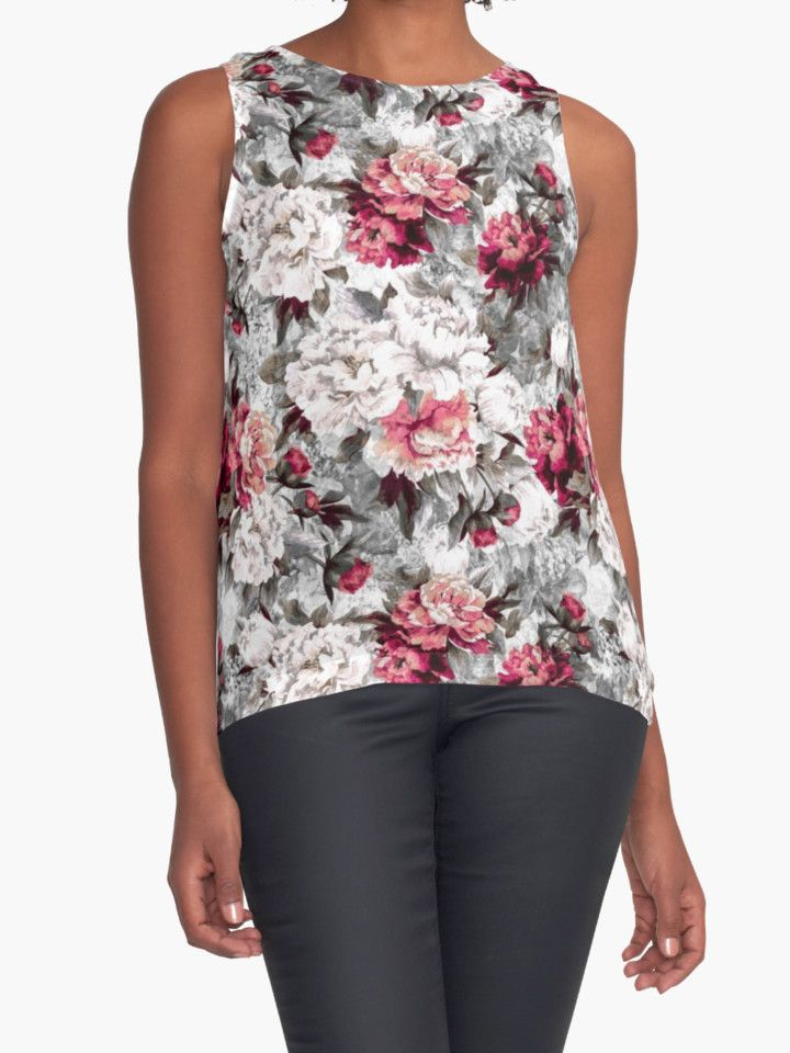 Roses by RIZA PEKER #women #fasfion #tank #top #floral #summer #style #girls