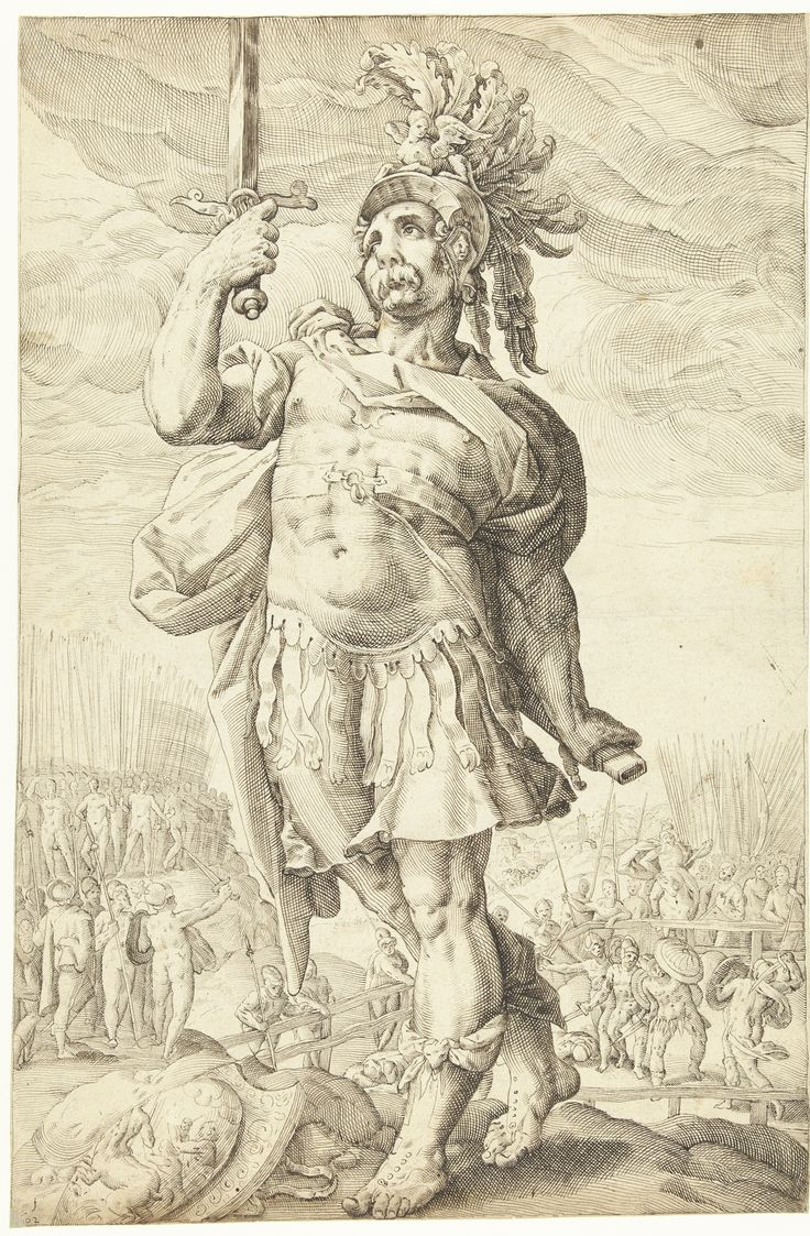 Publius Horatius, Roman hero by Lucas van Haelwech, 1602. Rijksmuseum, Public Domain