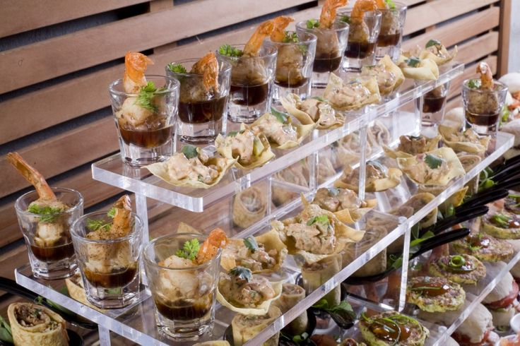 Food station trends in catering embrace buffet foods for for Canape buffet menus