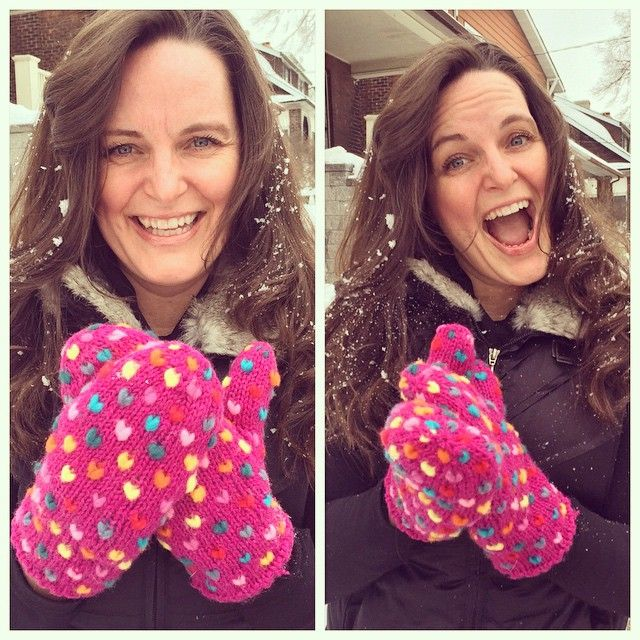 The new mitts came in today! And we're more than a little excited. #Handmade and so so warm, to help brave this #Canadian chill! #fashion #winter #iloveorangefish