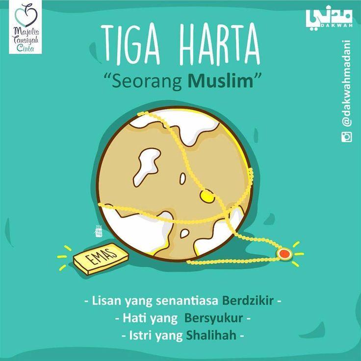 "2,591 Likes, 20 Comments - Majelis Tausiyah Cinta 💌 (@tausiyahcinta_) on Instagram: "". Ada 3 harta seorang muslim di muka bumi. Rasulullah Shalallahu Alaihi Wassalam bersabda, ""Harta…"""