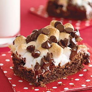 Fudgy Marshmallow-Topped Brownies Recipe