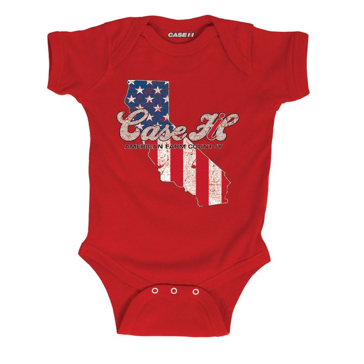 Case IH Country Patriotic California Infant One Piece